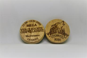 "Wood-Coin ""Natur - Heulender Wolf"""