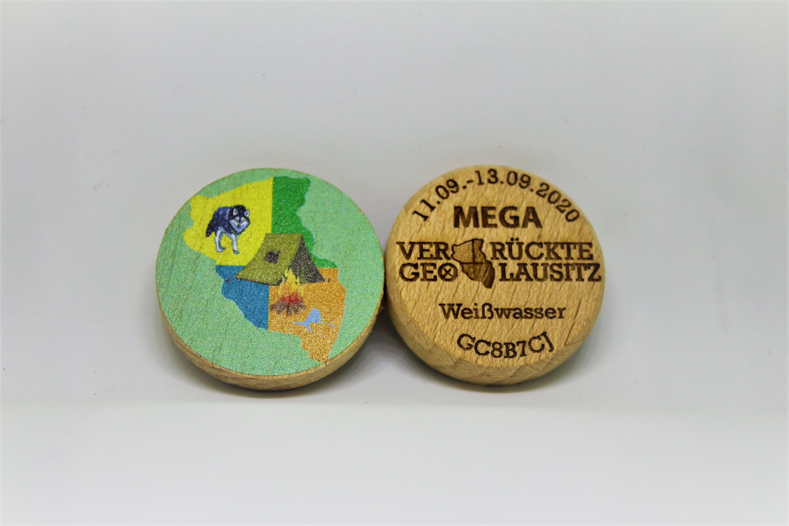 "Wood-Coin ""Bunt - Logo"""